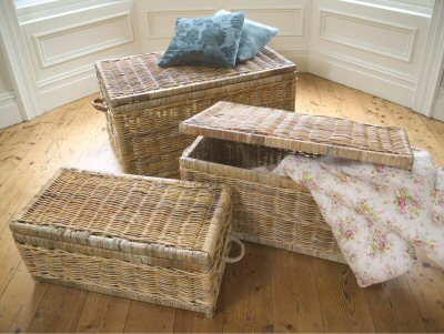 wicker storage boxes with lids 2