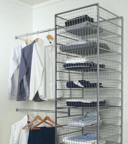 elfa wall to basket tower clothes rail kit