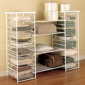 Storage drawers and shelves from elfa