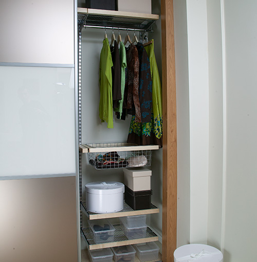 wardrobe interiors and modular shelving & storage solutions from elfa