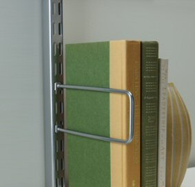 book ends to clip into elfa twin slot uprights