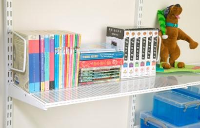elfa shelf liner for classic ventilated shelving