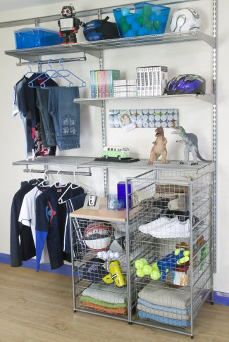 Childrens Wardrobe Interior - Clothing & Toy Storage