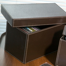 Faux Leather CD Storage Box