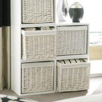 2 x Modular White Wooden Storage Cubes
