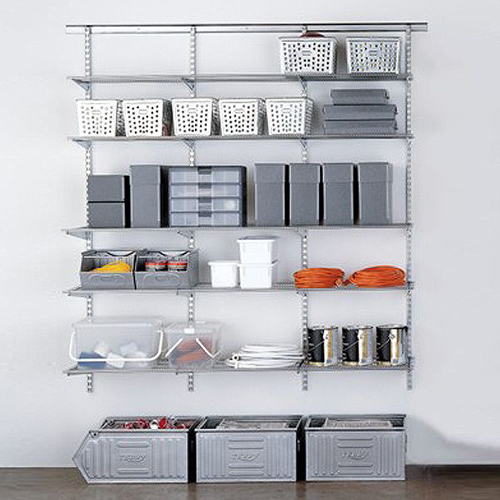elfa shelving for better garage storage