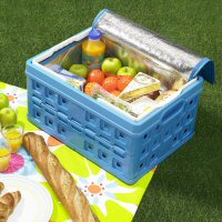 Folding Picnic Crate & Cool Bag