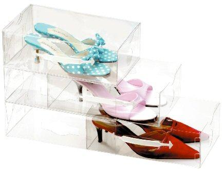 stacking clear shoe drawers