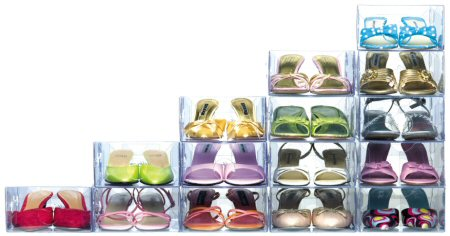 clear plastic stacking shoe storage boxes