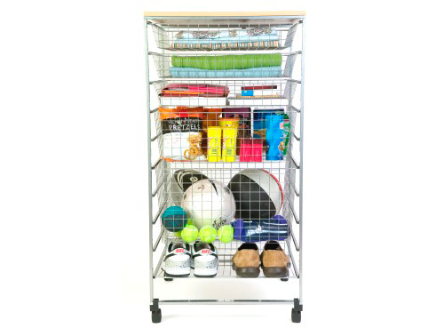104cm high free standing elfa basket tower
