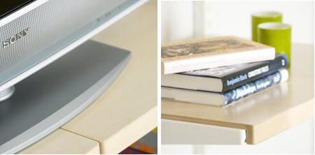 elfa shelving - solid wood book shelf etc.