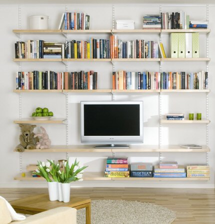 High Quality Our Sitting Room Shelving Storage Solution Comes With Several Rows Of Fully  Adjustable 40cm Deep X 60cm Wide Solid Shelves In Either Birch Or Walnut  Veneer.