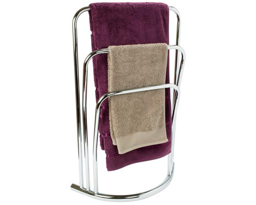 chrome towel rail freestanding