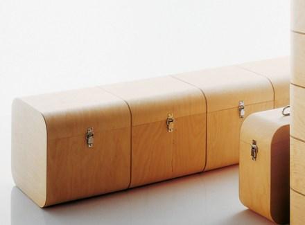 handmade birch storage cube