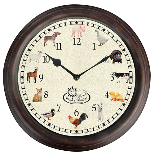 Wall Clock with Animal Sounds