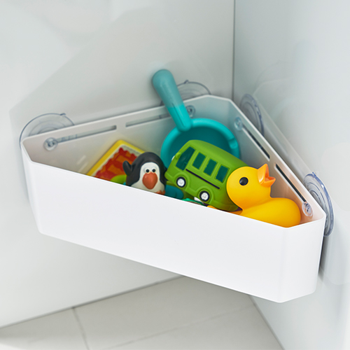 Corner Suction Shower Caddy - White