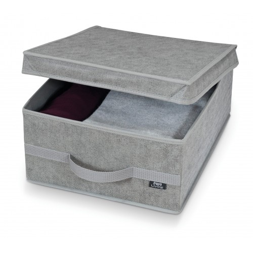 Fabric Storage Box - Stone Grey