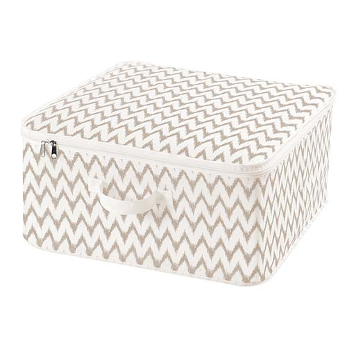 Storage Bag with Zip - Ikat