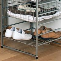 Bottle / Shoe Rack For Elfa Drawers 55cm x 54cm - Platinum