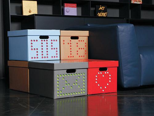 Me Box / DG Box glossy and sturdy cardboard storage boxes