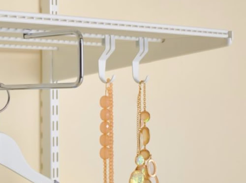 Pack of 3 utility shelf hooks