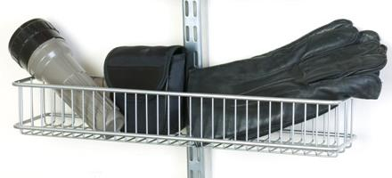elfa sparring basket. Clips neatly onto any elfa twin slot shelving upright