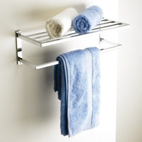 Hotel-Style Towel Shelf