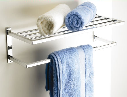 Hotel Style Towel Shelf Store Bathroom Storage