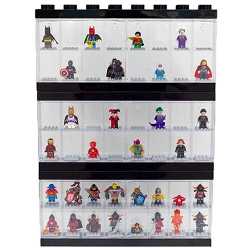 3 x Large LEGO Minifigure Display Cases