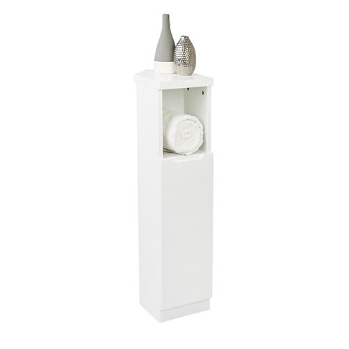 Corner Cabinet - High Gloss Compact Bathroom