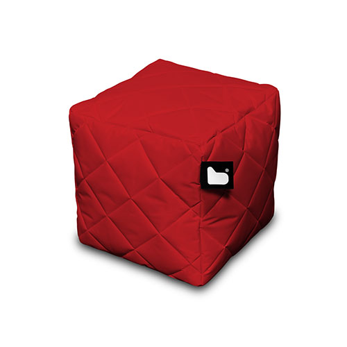 Bean Bag Crazy Mighty B Box Footstool Quilted Red