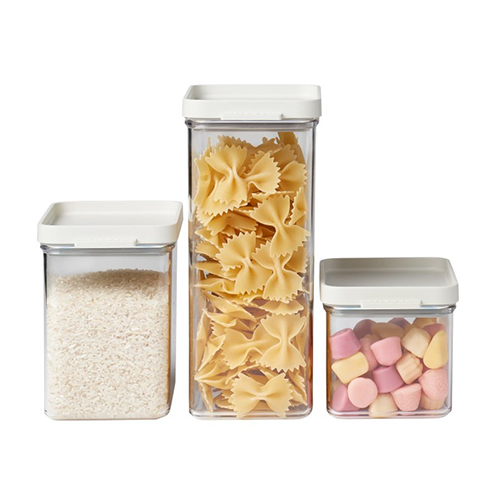 3 x Stacking Kitchen Storage Canisters - Omnia
